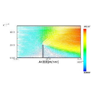 Kn=0.1 速度分布