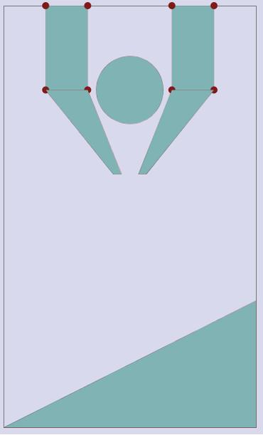 カットセルを使ったノズル状の流れ場